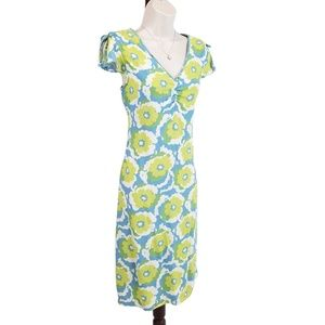 Hanna Andersson dress floral blue green